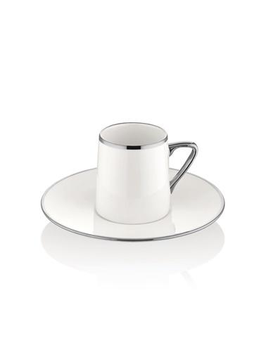 The Mia Kahve Fincanı Seti - 6 Kişilik Platin Gümüş
